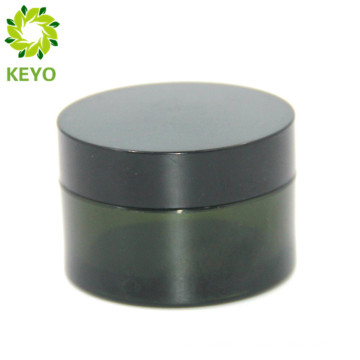 50g empty face cream use green plastic cosmetic jar with black cap