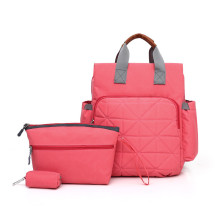 Travel outing fabric mom bag 3pcs double shoulderbags