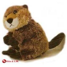 customized OEM design plush brown beaver keychain