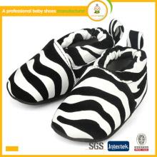 2015 best sell zebra print fashion algodão vestido de bebê sapatos