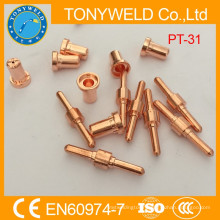 PT31 plasma cutting nozzle and electrode