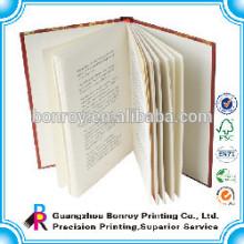 Cubierta de libro de tapa dura para adultos mate cubierta personalizada