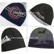 Promotion custom print men knitted cap hat