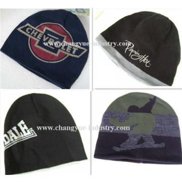 Promotion custom print men knitted cap hat