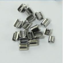 Stainless Steel U Top Stopper for bag zipper