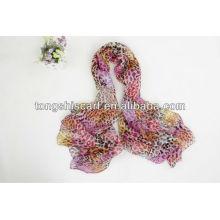 lenço de seda pura das mulheres da moda