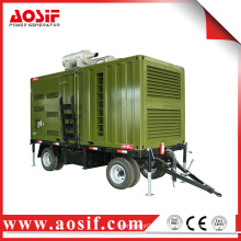 OEM mobile diesel water power trailer generator for construction machinery