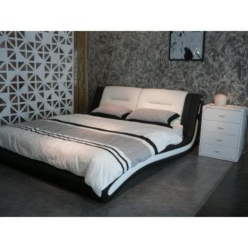 Bedroom Furniture, Leather Bed, Modern Bed (6038)