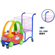 Plastic Kids Supermarket Shopping Trolley Cart