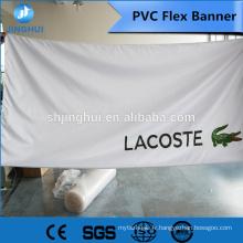 conception de bannière de foire de canton juste, bannière de PVC pvc flex en rouleaux avec le prix bas pour l'impression numérique, machine de bannière de PVC flexible