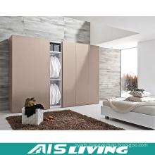 Home Furniture Storage Sliding Door Melamine Wardrobe Closet (AIS-W318)