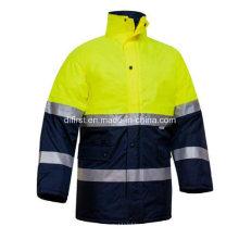 Jaqueta de segurança reflectora Parka com bolso