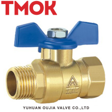 brass color inside and outside the wire butterfly handle ball valve