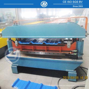 Máquina formadora de techos de doble capa