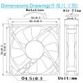 Fábrica precio Ec9225 ventilador 92 * 92 * 25 mm CE ventilador