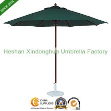 2,7 m ronde parapluie de Patio en bois pour les meubles extérieurs (WU-R3827)