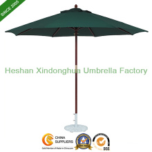 2.7m Round Wooden Patio Umbrella for Outdoor Furniture (WU-R3827)