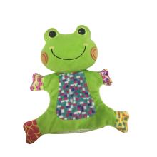 Marioneta de mano rana verde