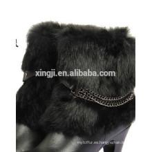 Puños de piel de conejo reales de calidad superior
