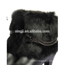 Top quality real rabbit fur boot cuffs