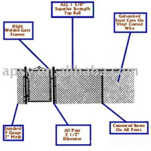 pvc diamond fence