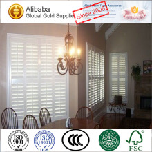 2017 New Style Hoe Sale with Superior Quality of Customized Double Hinged Plantation Shutters