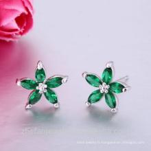 boucles d'oreille fleur oreille piercing pas cher en gros boucles d'oreille