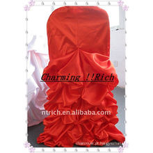 Cetim Ruffled Chair Cover para o Natal