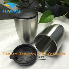 Taza de café doble del viaje del acero