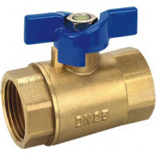 Plating Brass Ball Valve with Butterfly (AD-1016)