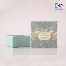 La cartulina rígida impresa aduana jabona la caja de papel del embalaje con la ventana del PVC para los jabones de barra
