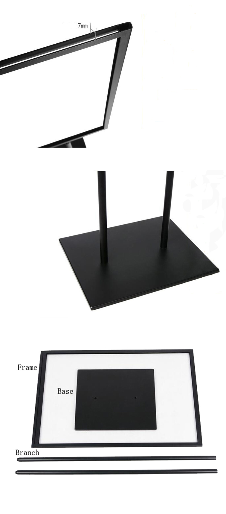Poster Holder with Metal Pedestal