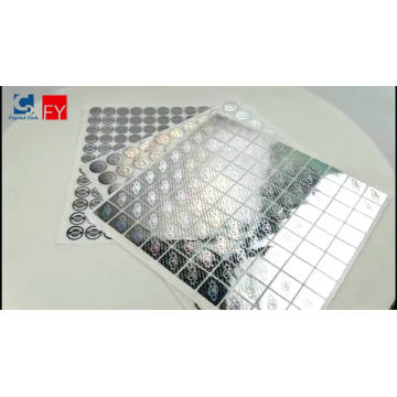 High quality holographic logo label stickers