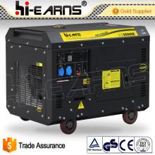 7квт домашнего использования тихий дизельный генератор установить цену (DG8500SE)