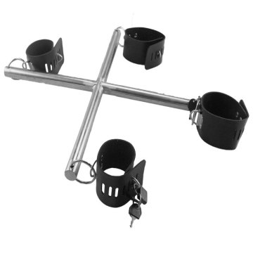 Sex Bondage Restraint Metal Rod Handcuff Ankle Cuff Metal Shackle Ankle Cuffs Homme Femmes