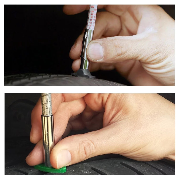 use tyre tread depth gauge