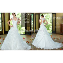 2014 Sweetheart Lace Jacket Pleied Bodice Pick-up Saia Longo organza vestido de noiva Vestido de noiva Kitty Chen vestido de noiva NB0596