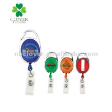 plastic name badge holder with metal clip