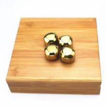 Whiskey Rocks Stones Edelstahl 4 Stück Eiswürfel
