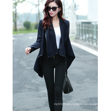 New Women Blazer Suit Cardigan Coat Irregular Collar Jacket Tops