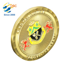 Factory Wholesale Custom Engrave 3D Coins Custom Gold Round Coins Personalized