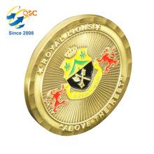 O costume por atacado da fábrica grava as moedas redondas do ouro feito sob encomenda das moedas 3D personalizadas