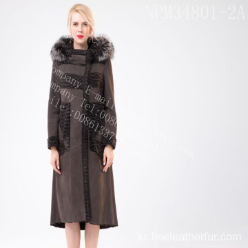 호주 여자 호주 Merino Shearling Fur in Winter