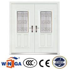 Weiße Farbe Große Größe Europ Sicherheit Metall Eisen Tür (W-SD-03)