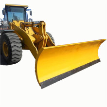 Wheel snow shovel plow with wheels