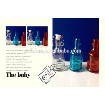 180ml Colored Wine or Vinegar Bottle Glass Bottle with Swing Top