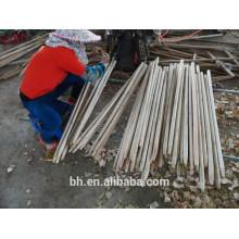 Rodada, madeira, fino, varas, esfregão, vassoura