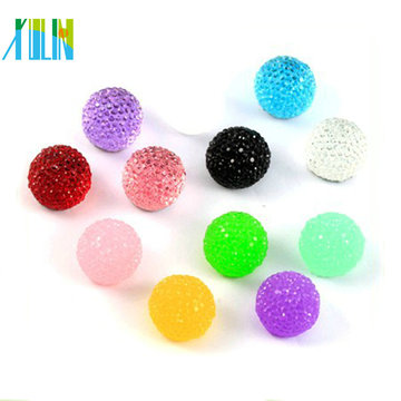 Sparkle flat back round resin rhinestone button for clothing