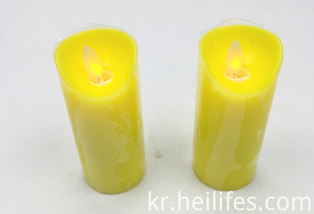 Customized Festival Gifts Yellow Candle Light