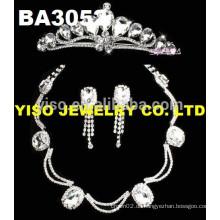 Einfaches Design klar Kristall Set Halskette
